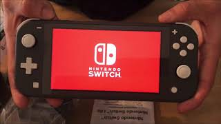 Unboxing Nintendo Switch Lite (Black/grey color) & protector case (HORI)