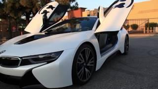 DJ Marshmello's BMW i8 Full Wrap in Satin Pearl White w/ Gloss Black Accents
