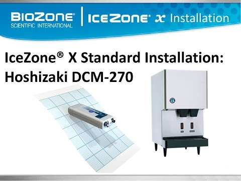 IceZone X Installation Hoshizaki DCM 270 Ice and Water Dispensor