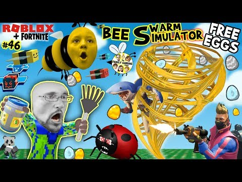 ROBLOX BEE SWARM SIMULATOR FREE EGGS from FORTNITE! (FGTEEV Honey Tornado #46)