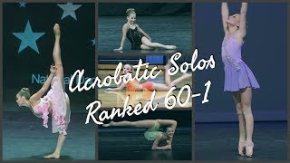 DANCE MOMS | ALL ACROBATIC SOLOS RANKED 60-1
