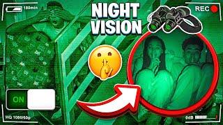 WE PLAYED HIDE N SEEK IN THE DARK WITH NIGHT VISION!