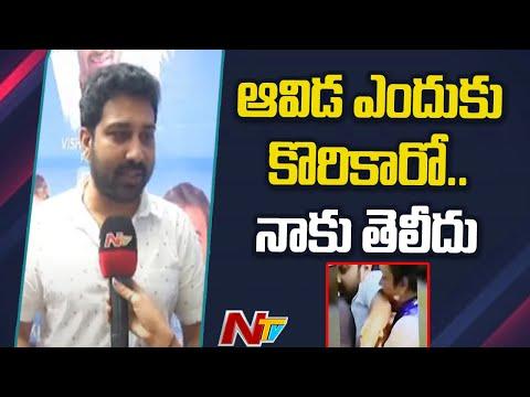 Shiva Balaji reacts after actress Hema bites his hand at MAA polling center