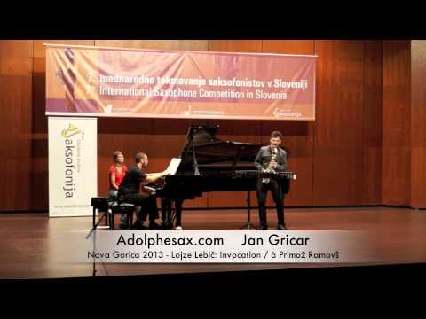Jan Gricar - Nova Gorica 2013 - Lojze Lebič: Invocation / à Primož Ramovš