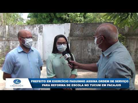 PREFEITO EM EXERCÍCIO FAGUINHO ASSINA ORDEM DE SERVIÇO PARA REFORMA DE ESCOLA NO TUCUM EM PACAJUS