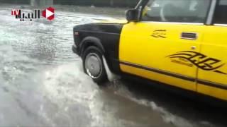 غرق شوارع الاسكندرية بالأمطار - 4 نوفمبر 2015     -