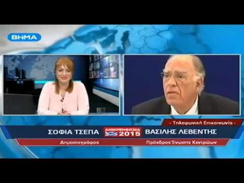 ΒήμαTV Ιωαννίνων    Παρέμβαση Βασίλη Λεβέντη    05 07 2015