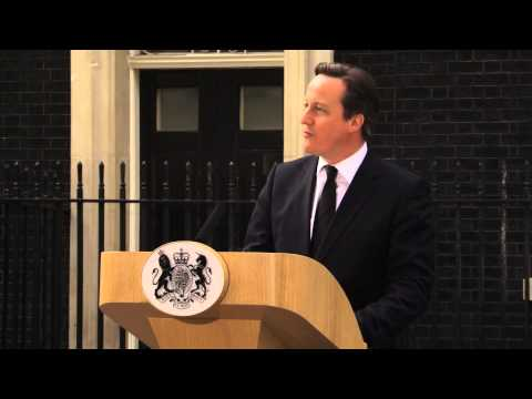 David Cameron's Statement on Lady Thatcher - YouTube
