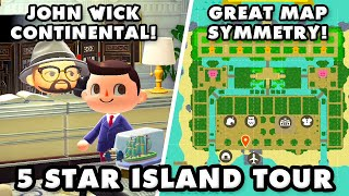 Wow! IRL Industrial Designer Made This 5 Star Island! Animal Crossing New Horizons Island Tour!