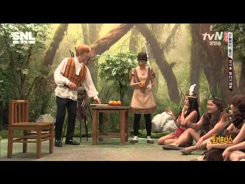 [ENG Sub] 씨스타보라 포카혼타스 140920 SNL 코리아 @ SNL Korea Sistar Bora's Skit