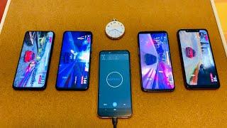 Honor V20 vs Vivo NEX 2 vs One Plus 6T vs Pocophone EPIC Battery Drain Test!