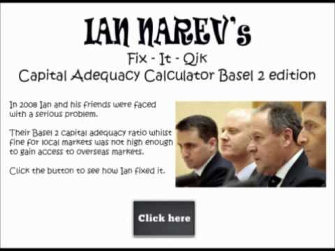 Commbank Ian Narev's Basel 2 capital adequacy calculator