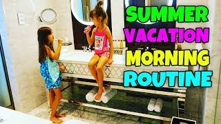 VACATION MORNING ROUTINE - Summer Morning Routine at a Hotel - Surprise Present Opening