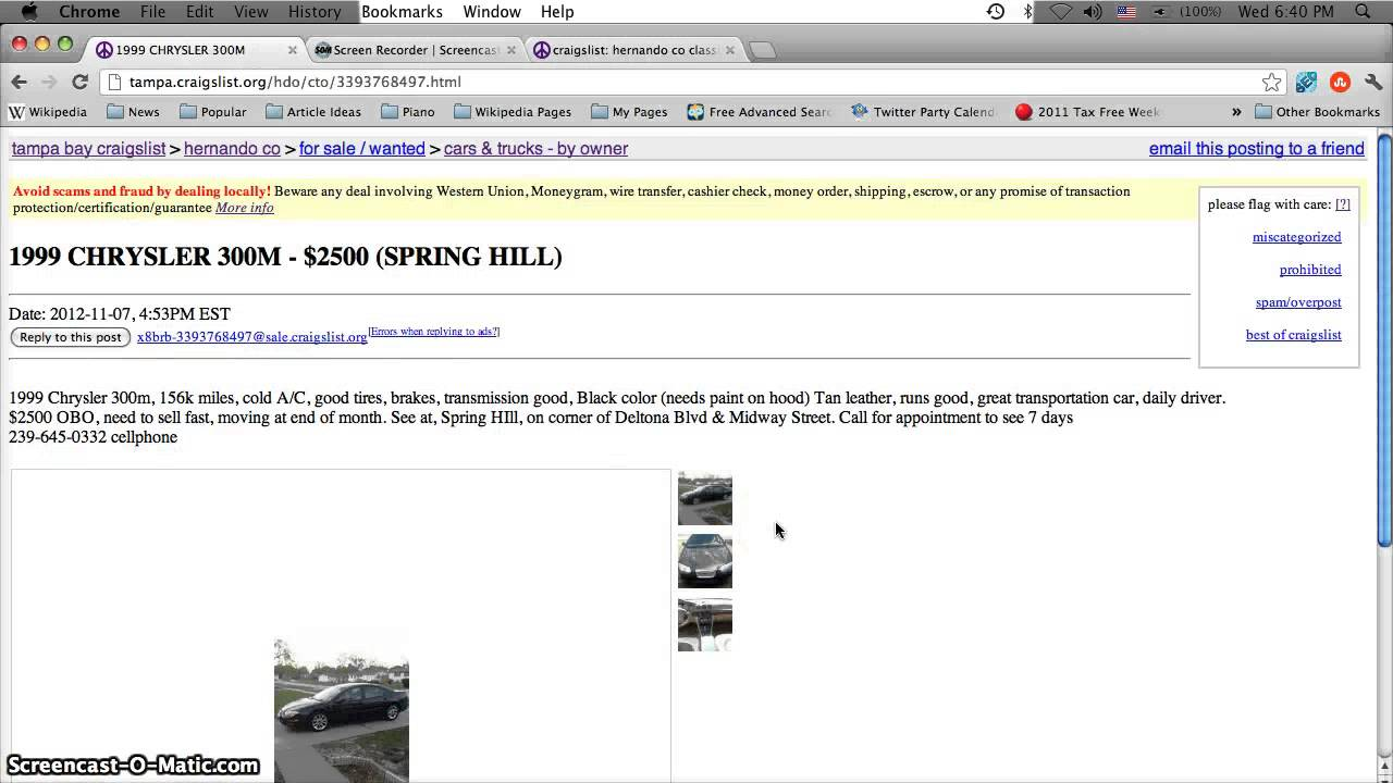 Craigslist Hernando County Florida Used Cars For Sale By