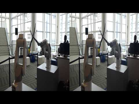 Robot Arms FIght @ IDF 2015 (YT3D:Enabled=True)