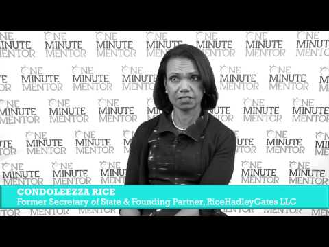 Hearst One Minute Mentor: Condoleezza Rice on Team Building
