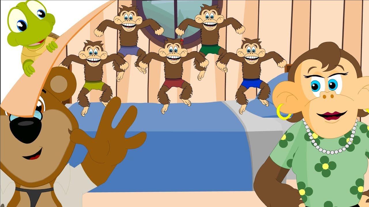 Five Little Monkeys jumping on the bed - Nursery Rhymes ...