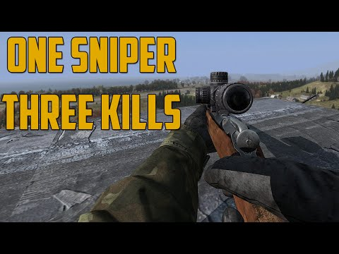 ONE SNIPER, THREE KILLS (DayZ Standalone) - GoldGloveTV  - DPREKVH6nDU -