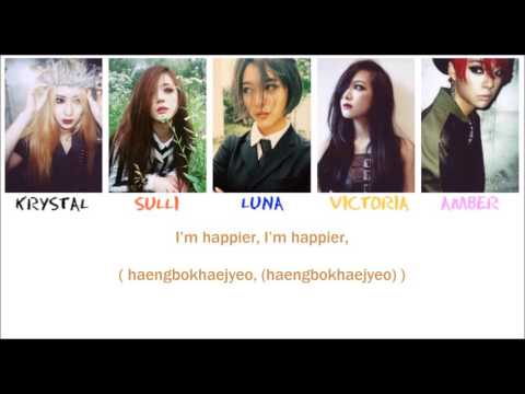 f(x) - Gangsta Boy Lyrics [ Eng - Rom - Color coded and Picture ]