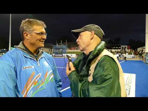 Niel Hawgood post India women against Australia. Womens hockey