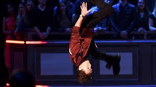Tom Holland THE NEW SPIDER MAN doing flips