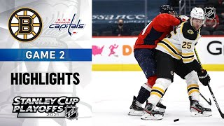 First Round, Gm2: Bruins @ Capitals 5/17/21 | NHL Highlights