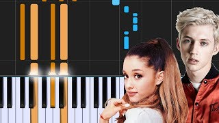 "Troye Sivan - ""Dance To This""  ft. Ariana Grande Piano Tutorial - Chords - How To Play - Cover"