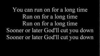 Johnny Cash- God's Gonna Cut You Down (lyrics)