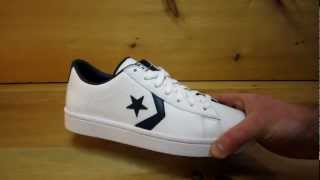 6d13af32dea Converse Pro Leather Ox White Navy - YouTube