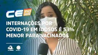 Internações por Covid-19 em idosos é 53% menor para vacinados