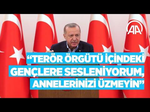 Cumhurbaşkanı Erdoğan: Terör örgütü içindeki gençlere sesleniyorum, annelerinizi üzmeyin
