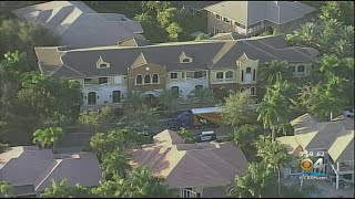Heavy Police Presence At Antonio Brown's Hollywood Residence