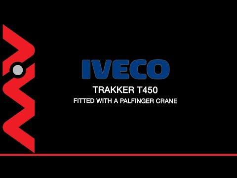 Iveco Trakker T450 8x4 Palfinger PK60002 Beavertail Crane Truck