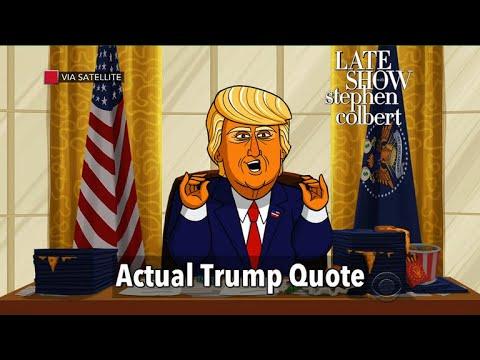 Actual Trump Quotes Read By Cartoon Donald Trump