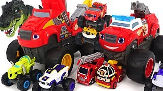 Blaze and the Monster Machines Transforming Fire Truck, Tow Truck! Defeat the dinosaurs! #DuDuPopTOY
