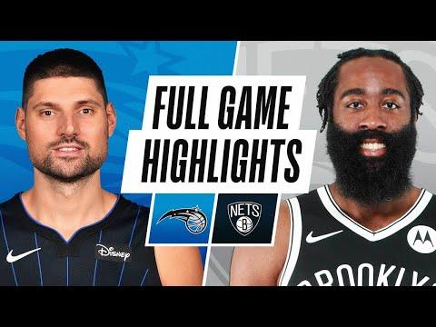 奥兰多魔术队vs布鲁克林篮网队!NBA常规赛