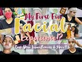 My First Ever Facial Experience!?|Spa Day with Family|Luxury Waxing,Pedicure,Manicure & More||