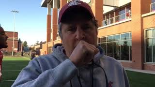 Mike Leach post practice Sept. 18