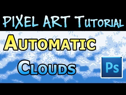 Pixel Art Tutorial - How to Make Pixel Art Clouds Automatically in Photoshop