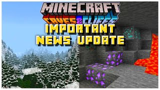 IMPORTANT News Update REVEALED Coming This Month | Minecraft 1.17 Caves & Cliffs Update