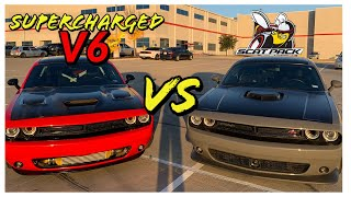 Can a Supercharged V6 beat a 392 Scatpack?  I was shocked..