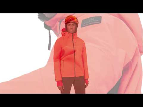 Bogner Eagle Mens Jacket in Neon Orange