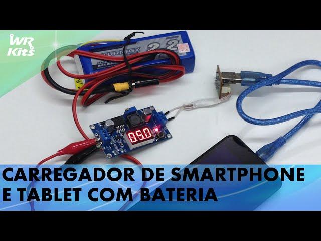 CARREGADOR DE SMARTPHONE E TABLET COM BATERIA