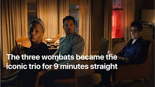 The three wombats became the iconic trio for 9  minutes straight
