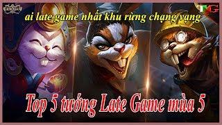 Liên Quân Top 5 tướng late game siêu mạnh tại mùa 5 của khu rừng chạng vạng liên quân mobile