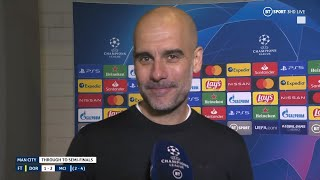 'We are starting to build history!' Pep Guardiola on reaching the UCL semis with Man City!
