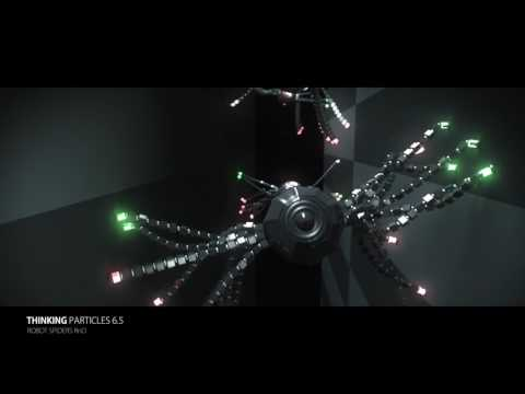 Fabian Buckreus Thinking Particles 6.5  - Robot Spiders Rnd + scenefile
