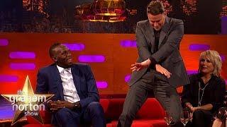 Channing Tatum Teaches Usain Bolt a New Dance Move   The Graham Norton Show