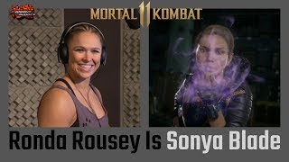 ATP #MK11 First Look: Ronda Rousey Is Sonya Blade