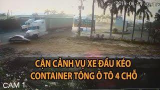 Giây phút thảm khốc xe container tông chết 3 người ở Tây Ninh